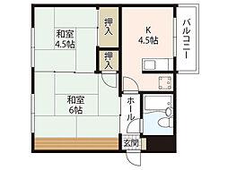 川住ビル[4階]の間取り