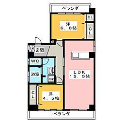 サニーフラッツ[3階]の間取り
