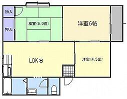 高崎ハイツ B棟[2階]の間取り