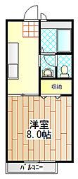 コーポ泉 B棟[1階]の間取り