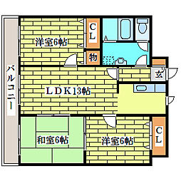 R4TMビル[4階]の間取り