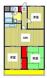 ニュー松戸コーポD棟[106号室号室]の間取り
