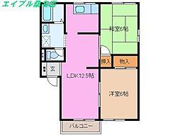 Pepo House A棟[2階]の間取り