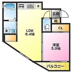 NEXUS陣ネクサスジン 5階1LDKの間取り