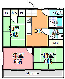 MK−2[206号室]の間取り