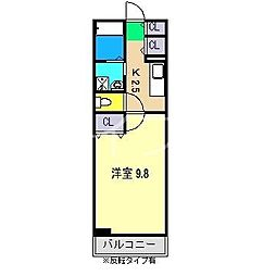 ヒルサイド福井[1階]の間取り