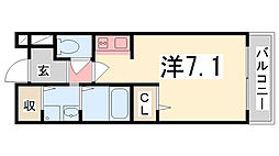 タウニー北条II[202号室]の間取り