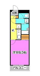 ドミール所沢II[6階]の間取り