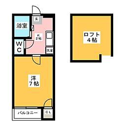 ネスト博多[2階]の間取り
