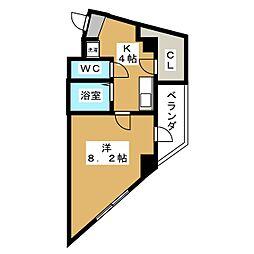 プラネシア星の子京都駅前[3階]の間取り
