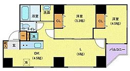 JR山手線 巣鴨駅 徒歩5分の賃貸マンション 7階2LDKの間取り