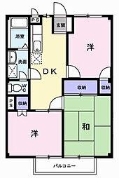 松風コーポ[1階]の間取り