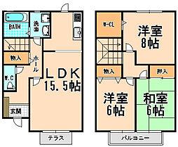 [テラスハウス] 兵庫県宝塚市旭町2丁目 の賃貸【/】の間取り