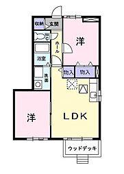 フローレンス古田 B[1階]の間取り