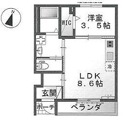 フラワー・Samukawa1階Fの間取り画像