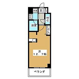 レジディア御所東[3階]の間取り
