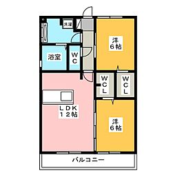 Resente和田 A[3階]の間取り