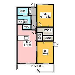 レインボー21[2階]の間取り