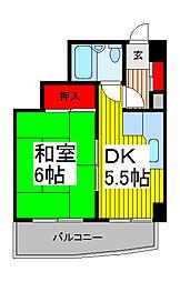埼玉県川口市並木3の賃貸マンションの間取り