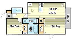 (仮称)D-room田寺東[106号室]の間取り
