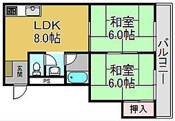 下川マンション[2階]の間取り