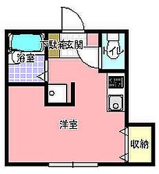 会澤コーポ[202号室]の間取り