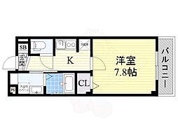 大阪モノレール彩都線 彩都西駅 徒歩10分の賃貸マンション 2階1Kの間取り