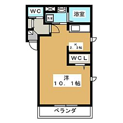 グランメールII[2階]の間取り