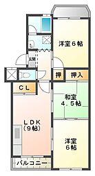 荒木マンション[1階]の間取り