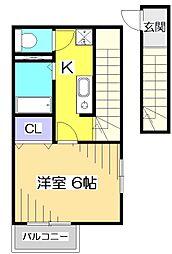 ARU GARDEN 〜アルガーデン〜[2階]の間取り