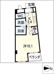 カーサヨサミ[4階]の間取り
