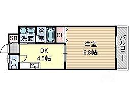 ラ ドルチェ[3階]の間取り