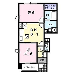 プラティーク B[1階]の間取り