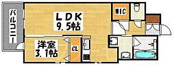 エンクレスト大博通りAPEX[5階]の間取り