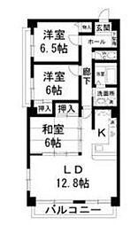 ベルクハウス霞ヶ丘[3階]の間取り