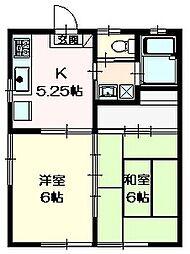サンライズII1階Fの間取り画像