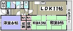 シャルマン徳川[303号室]の間取り