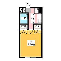 南風M[3階]の間取り