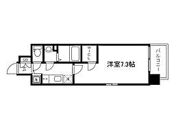 Osaka Metro中央線 森ノ宮駅 徒歩4分の賃貸マンション 10階1Kの間取り