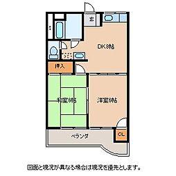 長野県茅野市本町西の賃貸マンションの間取り