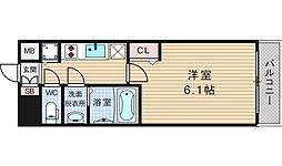 大阪府大阪市浪速区桜川2-の賃貸マンションの間取り