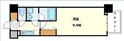 コンフォリア京町堀 15階1Kの間取り