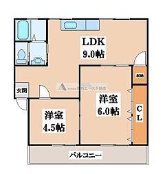 第一寺尾マンション[2階]の間取り