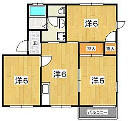 メゾンKUNIHARA C[201号室号室]の間取り