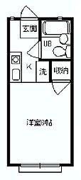 ハイムパーシモン[2階]の間取り