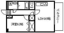 松橋マンション[307号室]の間取り