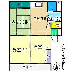 ハイツ薫II[1階]の間取り