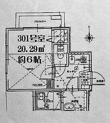 リーヴェルポート横浜南浅間[301号室]の間取り