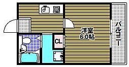 アパートメント翠月[505号室]の間取り