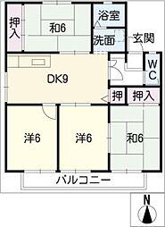 セジュール塩浜 B棟[1階]の間取り